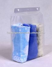 PVC button snap packaging bag for towel or bed sheet