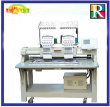 New double heads embroidery machine for cap/T-shirt/shoes/flat embroidery