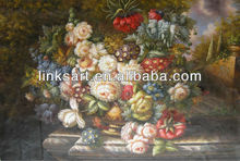 famous oil painting of classic flower
