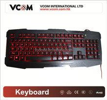 High quality auto game keyboard, USB Keyboard for sale Vcom company