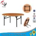 Plegable redonda de madera mesa de banquetes