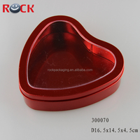 heart-shaped tin can/red heart boxs/small gift boxes for sweets