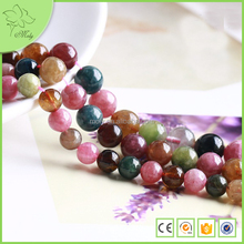 High Quality Low price Round Natural Rough Tourmaline Loose Beads DIY Jewelry