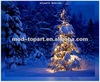 Hot selling lighted canvas wall art prints with led lights-christmas designs