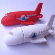 custom usb stick plane shape 3D pvc promotion usb flash drive