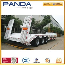 Mechanical suspension 60 ton lowbed semi trailer for sale