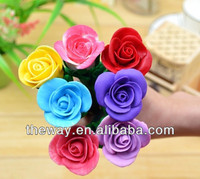 rose flower polymer clay ball pen promotional pen 6 colors