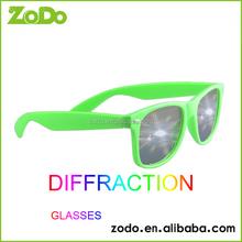 Custom diffraction 3d fireworks glasses / glass with PET laser lenses for public site