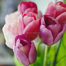 home garden decor silk artificial long single stem tulip wedding flower