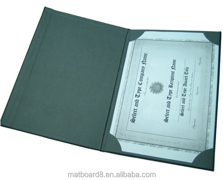 Paper Certificate Holders Certificate Holder\ a4 Faux