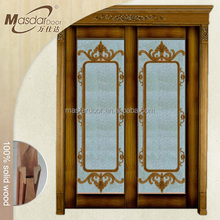 Korean modern wooden double swing door for kitchen