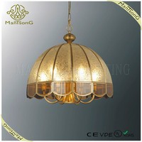 Hot sale Vintage Large Bronze Glass led Ceiling Light CE/VDE/UL