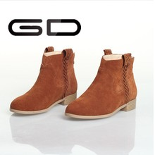 comfortabe dark brown ladies leather ankle boots