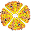 3 years warranty for free pizza floating toys inflatable pool raft pizza