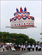 Desfile del globo, helio flotando, globo cielo y4018