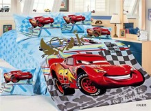 100% comfortable, soft, reside, cars cartoon quilt cover 4 PCS