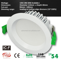 12w led downlight dimmable high quality color changeable ce approved downlight 3 years warranty