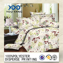 high quality 240cm/220cmbedsheet 100%polyester microfiber pigment printing fabric for home textile/matress cover