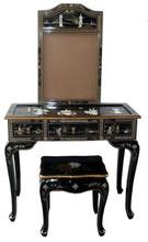 black Asia dresser Oriental dresser mirror stool korean dresser