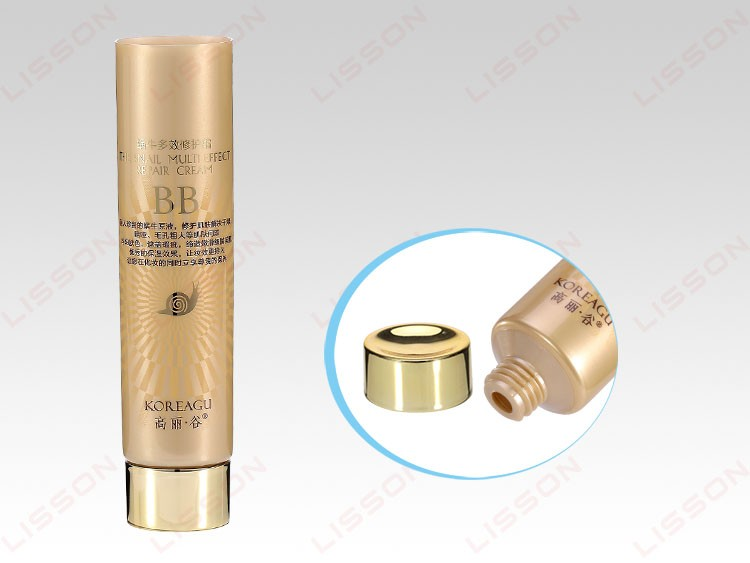 BB creme cosméticos tubo de plástico redondo com tampa de acrílico