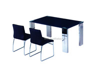 ARTISTIC METAL AND TEMPERED GLASS DINING TABLE DM-012