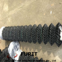 Coated Chain Link Fence/plastic chain link fence/black chain link fence