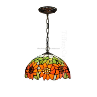 "12"" tiffany stained glass pendant lamp from factory"