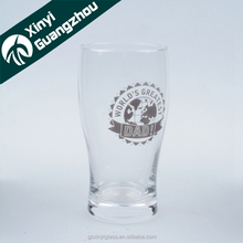 500ml drinking beer glass/ pint glass tumbler /decal print glass beer cup
