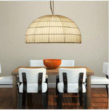 Newly fabric pendant light 450*250mm hand knitting droplight E27 with 3 heads for dining room lamp