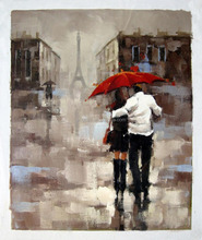 100% handmade rain oil painting for bedroom