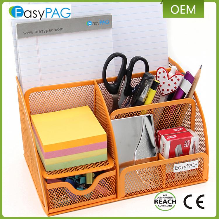 China shenzhen proveedor de malla de metal de escritorio oficina de la escuela suministros organizador caddy