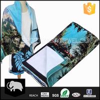 Super soft sublimation printing terry 100% cotton bath beach towel