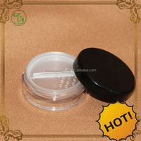 AS loose powder container with brush with clear sifter