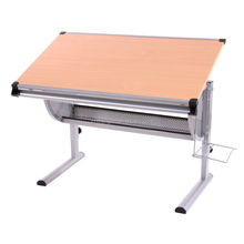 Metal Frame Wood Folding Drawing Desk Height Adjustable for Sale