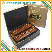 Factory custom made creative paper packaging tea box with insert tray