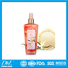 OEM factory nice fragrance body spray perfume for woman