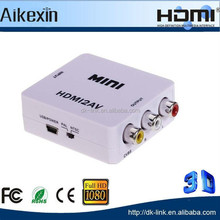 Mini HDMI to RCA Composite AV+ R/L Audio Converter with PAL/NTSC