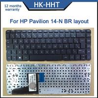 Teclado BR/Brazilian layout laptop keyboard For HP Pavilion 14-N