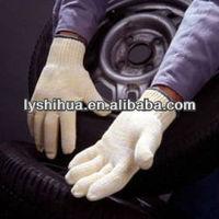 white cotton grip gloves