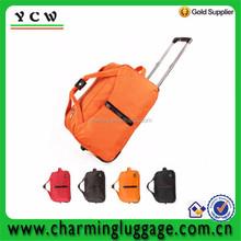 Colorful foldable water-proof trolley luggage
