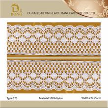 Inelastic lace