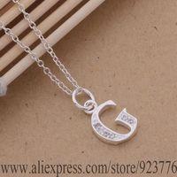 an213 925 стерлингового серебра колье 925 серебро моды ювелирные изделия Кулон письмо g /crkalira amxajeea