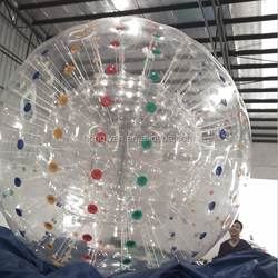 2015 Hot inflatable land mini zorb ball for bowling