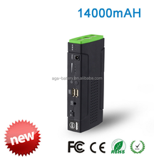 GHB OEM/ODM Fashionable Exclusive Highly Secure 12V 11000mAh mini car power pack battery jump starter CE/FCC/RoHs/UL approve