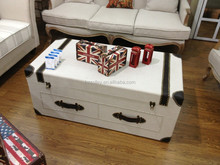 Simple Design PU Leather Storage Trunk Table Bedside Table Trunk