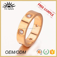 Wholesale Fashion Gold Jewelry Stainless Steel Zircon Stone Ring For Men