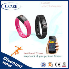 2015 hot sales promotion wristband with waterproof, wristband activity tracker