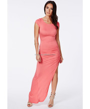 Long Lycra Beautiful Sexy OEM Manufacturer Wholesale Price Prom Office Ladies Casual New Pink Coral Ruched Maxi Dress 2015