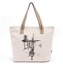 Heavy duty cotton canvas shopping tote bag/shopping bag with durable cotton handle