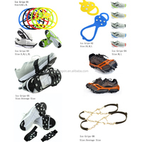 Ice Treads Over Boots Silicone Shoe Grips Grippers Cleats Spikes Anti Slip Safety Snow